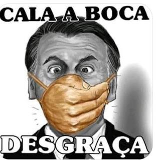 """Imaginaram, milhões de incautos brasileiros, ter eleito um presidente de nome Bolsonaro, que ia mudar o Brasil. Logo descobriram que foram enganados por uma imensa fraude. O presidente que escolheram é, na verdade, o """"Boçalignaro"""". Um estúpido, mal educado, inconsequente e grosso, que expele mais fezes por sua boca que por seu intestino. Pobre Brasil... Que destino!"""