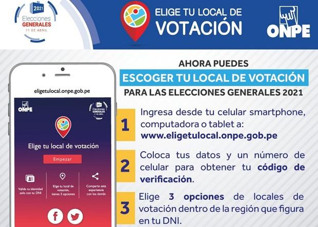 Elecciones 2021: hasta el 31 de diciembre se puede elegir local de votación