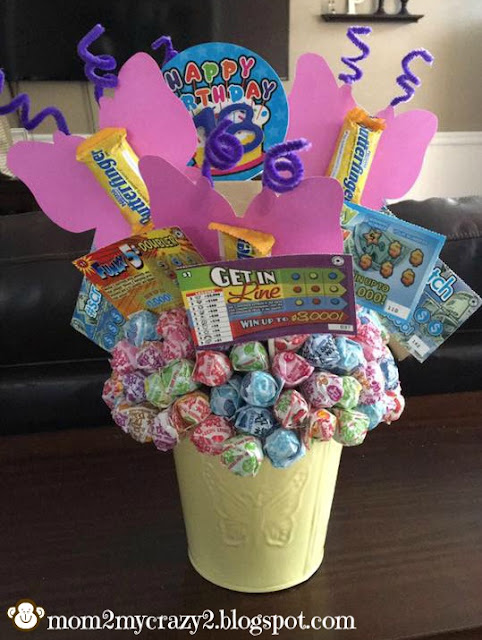 Running away? I\'ll help you pack.: 18th Birthday Candy Bouquet