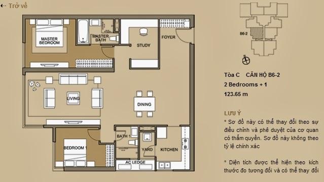 Các căn hộ có thiết kế đa dạng, hiện đại