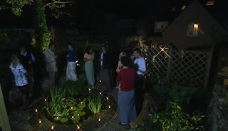 The courtyard party