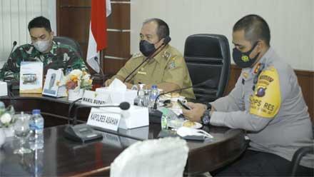 Wakil Bupati dan Forkopimda Asahan Ikuti Arahan Presiden RI
