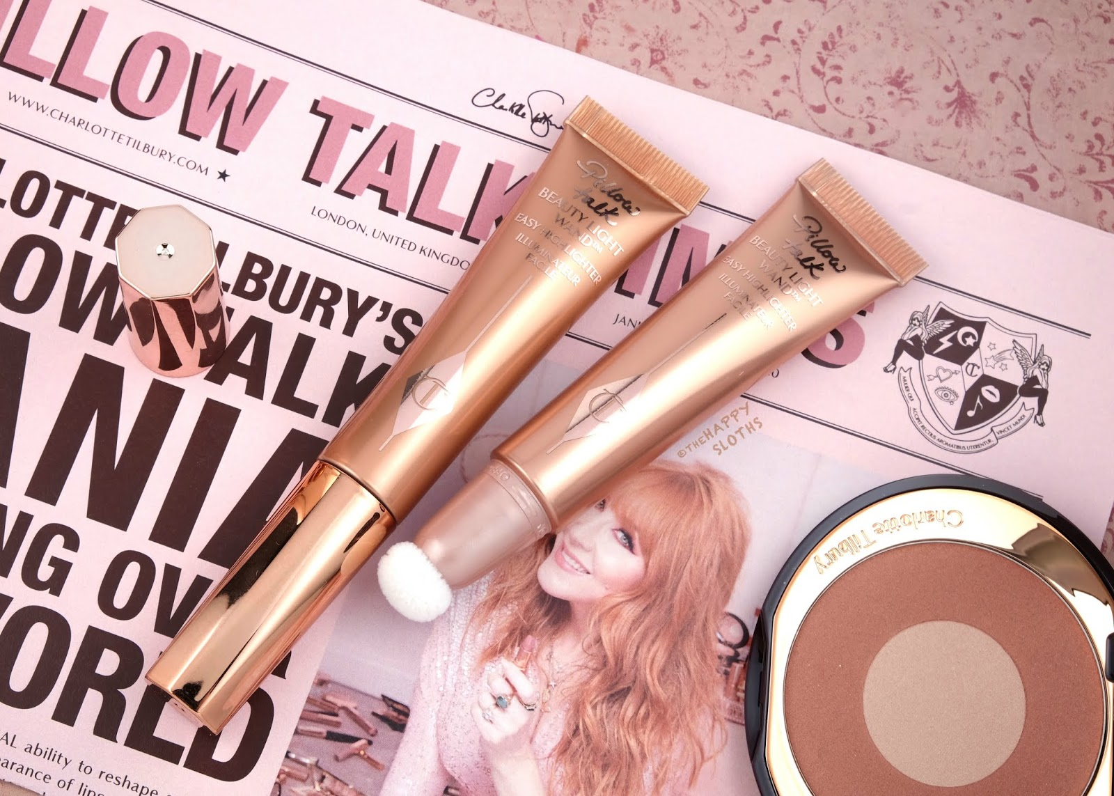 "Charlotte Tilbury | Beauty Light Wand in ""Pillow Talk"" & ""Pillow Talk Medium"": Review and Swatches"
