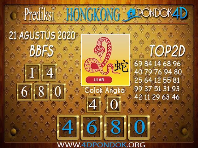 Prediksi Togel HONGKONG PONDOK4D 21 AGUSTUS 2020