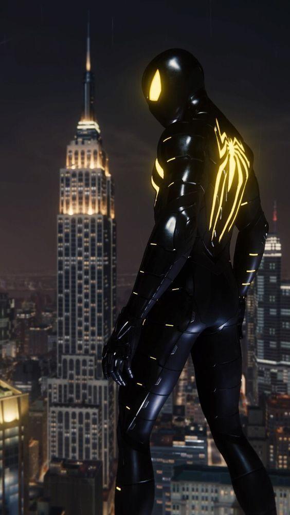 Wallpaper Spiderman hitam hd