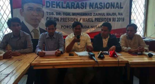 Simpati Poros Pemuda Nusantara untuk TGB Zainul Majdi di Pilpres 2019