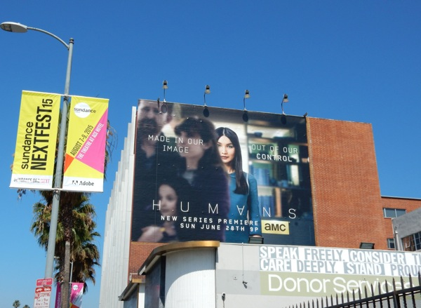 Humans series premiere billboard