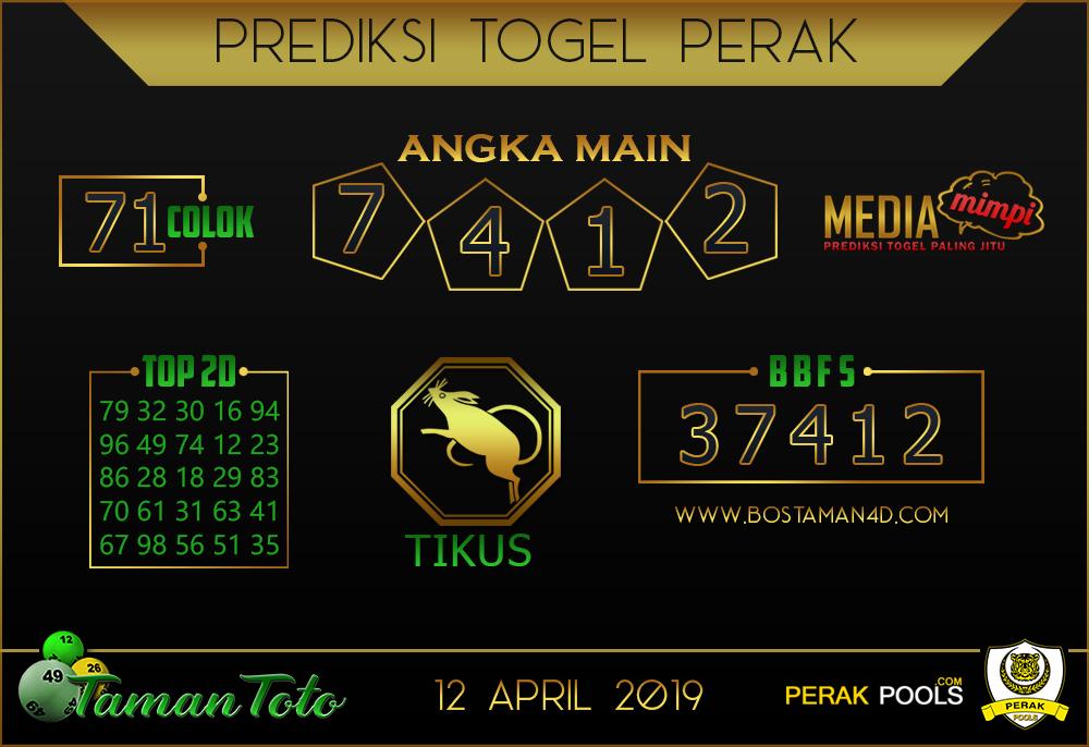 Prediksi Togel PERAK TAMAN TOTO 12 APRIL 2019