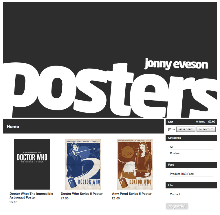 The Ameba Graphics Blog: Jonny Eveson Posters Store!