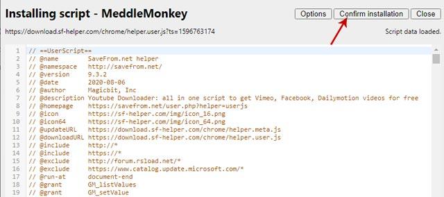 Install Script MeddleMonkey
