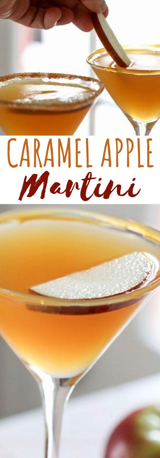 Caramel Apple Martini #drinks #cocktails