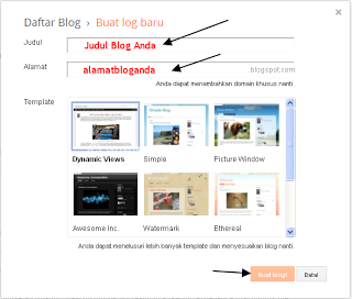 cara membuat blog gratis blogger blogspot