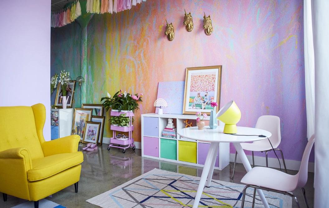 Inspirasi penataan warna pastel dalam menghias kediaman yang kecil