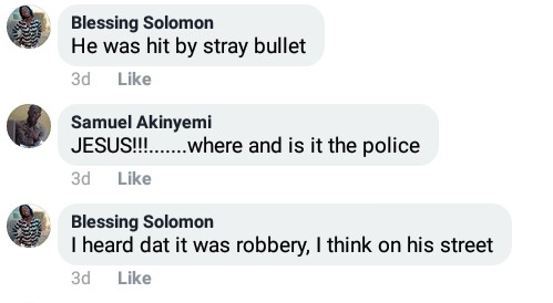 Final year student reportedly killed by stray bullet in Lagos