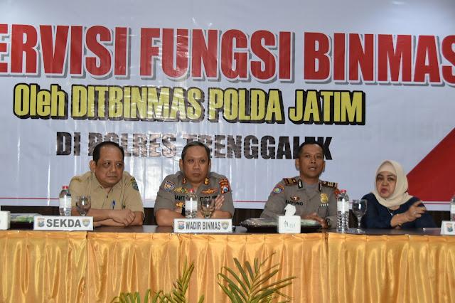 Sekda Trenggalek Dukung Supervisi Fungsi Binmas oleh Polres Trenggalek