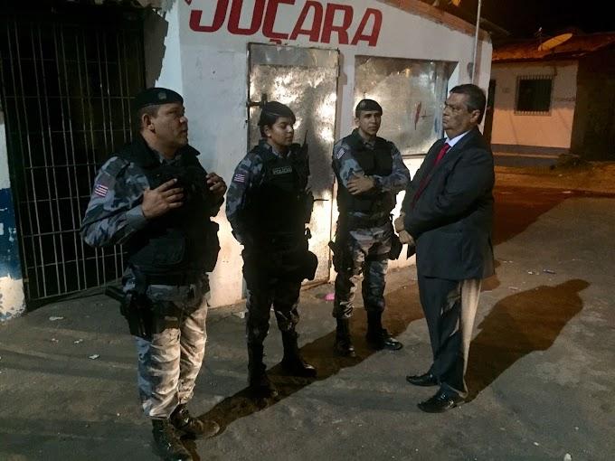 Governador Flávio Dino inspeciona operações policiais e reitera força máxima para garantir segurança