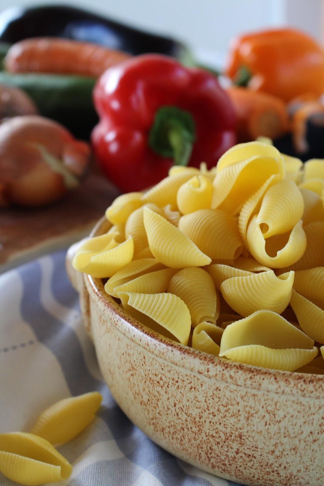 One Pot Pasta mit mediterranem Gemüse
