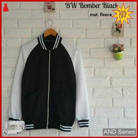 AND171 Jaket Wanita Bw Bomber Hitam BMGShop