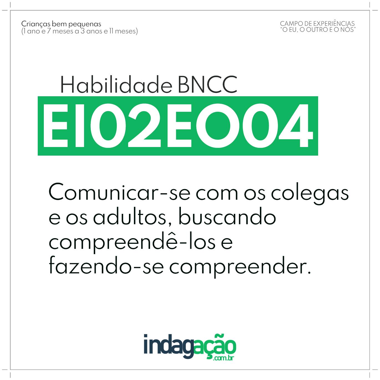 Habilidade EI02EO04 BNCC