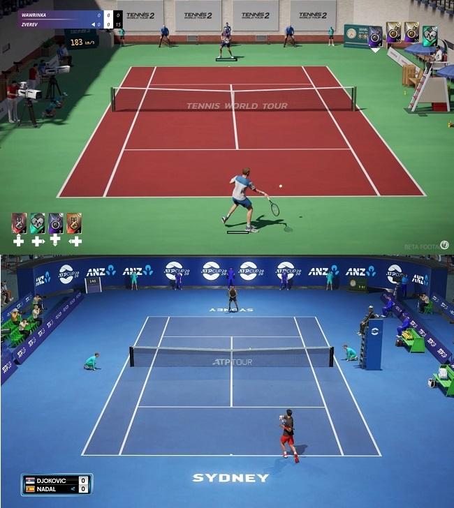 Compare Tennis World Tour 2 vs AO Tennis 2 Gameplay