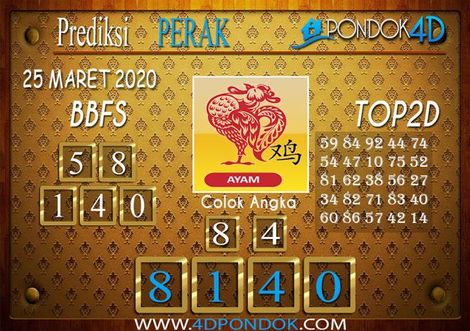 Prediksi Togel PERAK PONDOK4D 25 MARET 2020