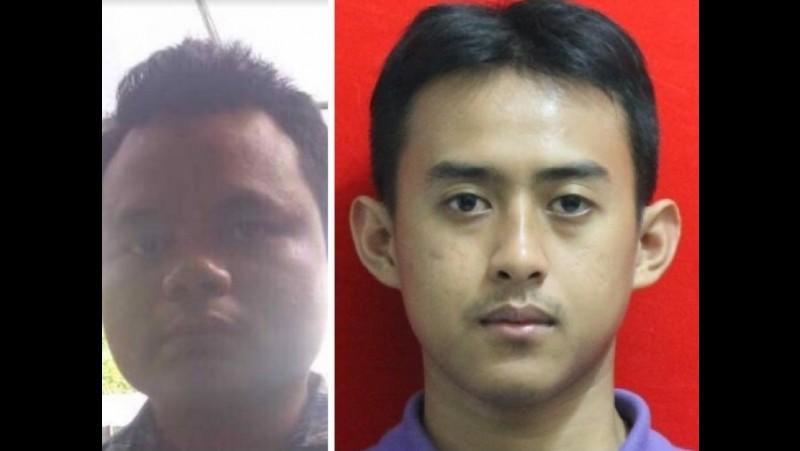 Ichwan Nurul Salam (kiri) dan Solihin pelaku bom Kampung Melayu
