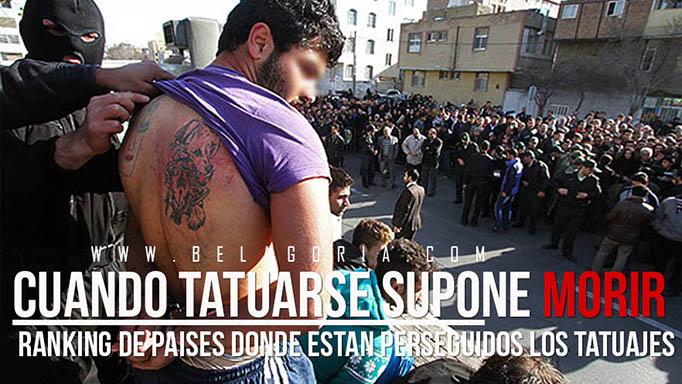 Hombre humillado ante una multitud y golpeado en Iran por llevar tatuajes
