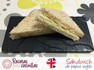 Sándwich inglés de pepino