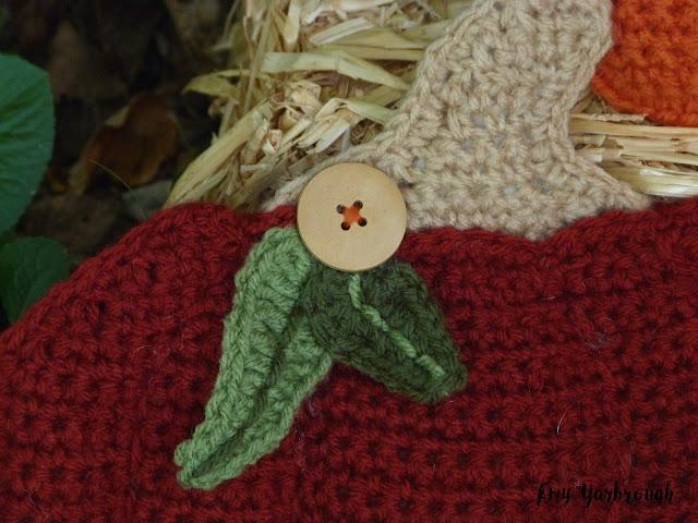 Embellishments for the Rustic Pumpkin Pillows crochet pattern