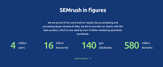 SEmrush, Figures,