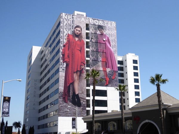 Giant Net A Porter S17 fashion billboard Sunset Strip