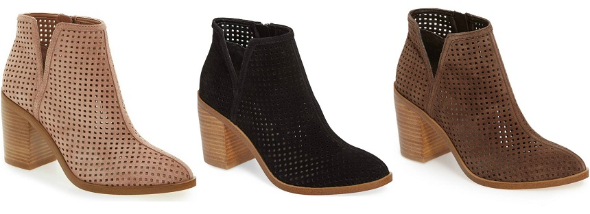 Nordstrom: 1. STATE Larocka Perforated Booties50% off + free shipping!