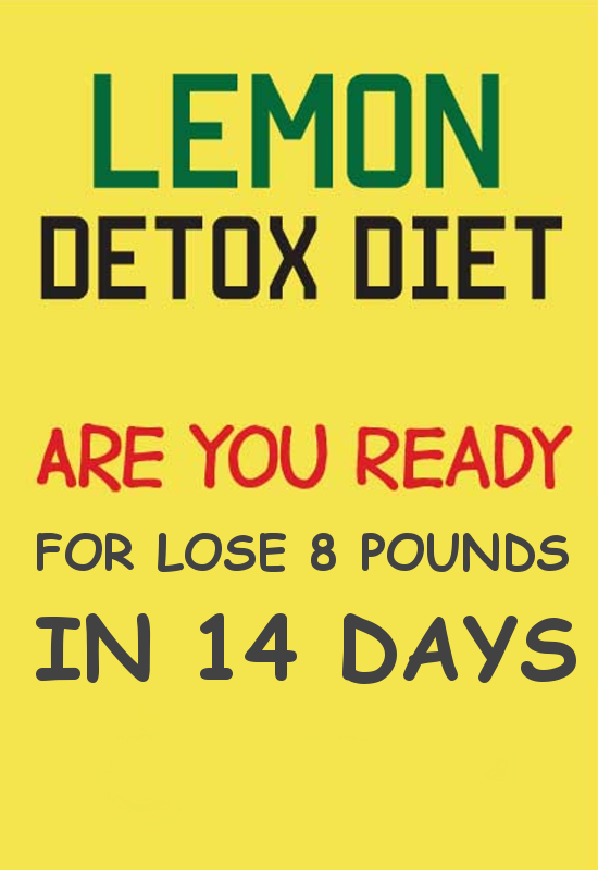 Lose 8 pounds with this lemon diet in 14 days