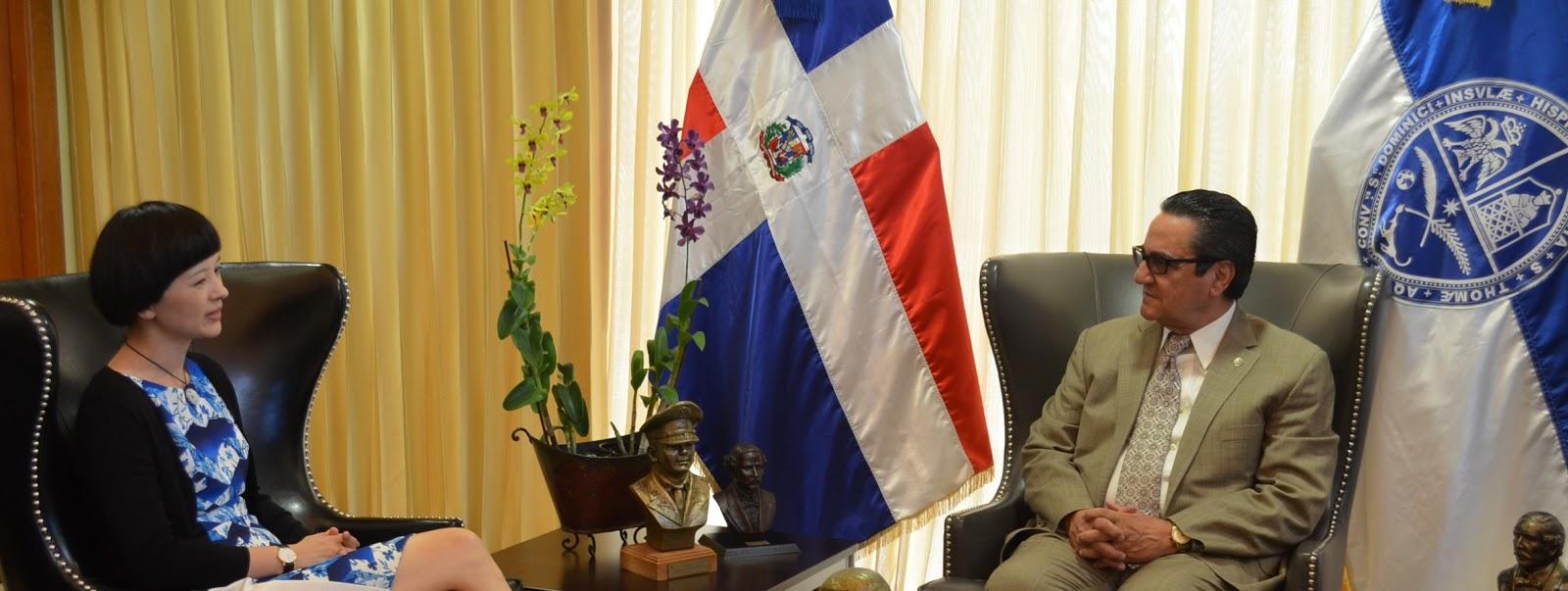 Rector de la uasd recibe visita de representante de la for El comercio oficinas