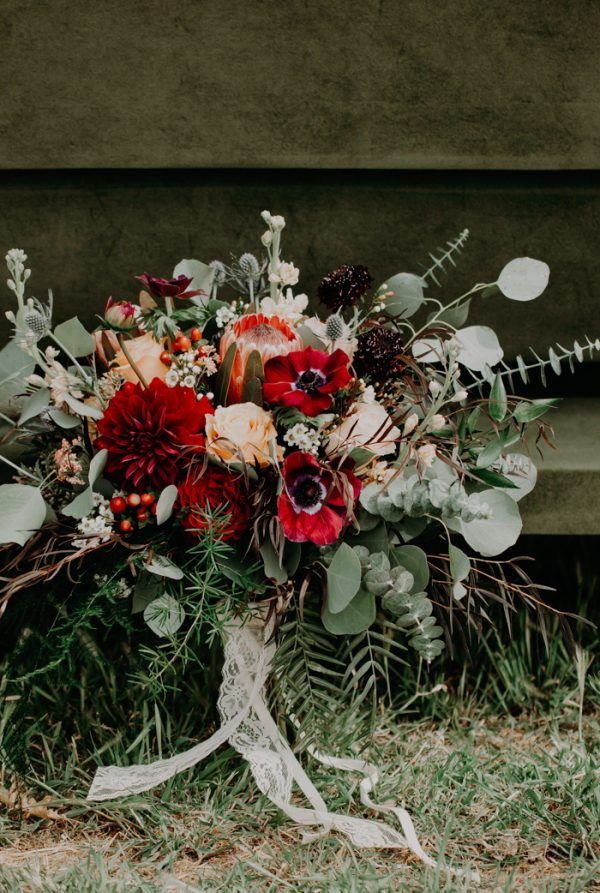 Boda en Wind Wolves Preserve ramo de novia