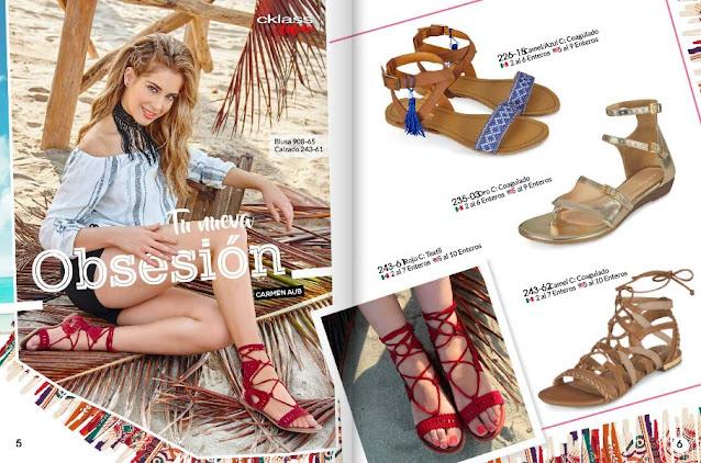 sandalias planas  textil rojo primavera verano 2021