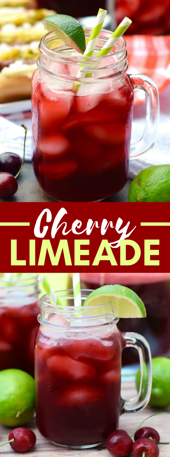 CHERRY LIMEADE #drinks #cocktails