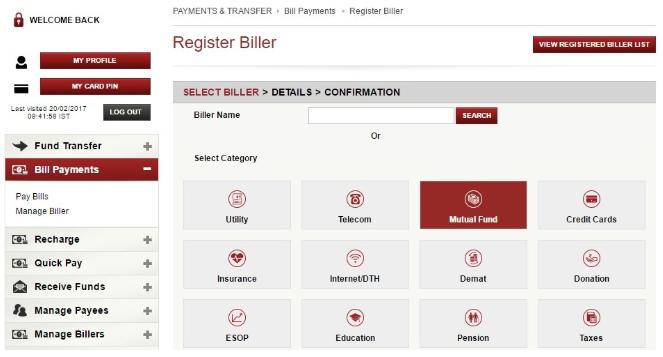 iSIP Biller Registration ICICI