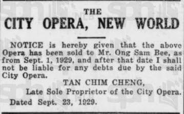 City Opers Singapore