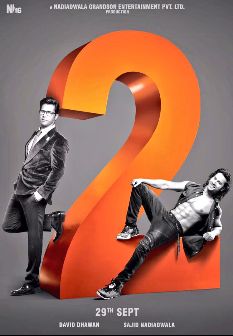Jacqueline Fernandez, Varun Dhawan, Taapsee Pannu New Upcoming hindi movie Judwaa 2 Poster, release date