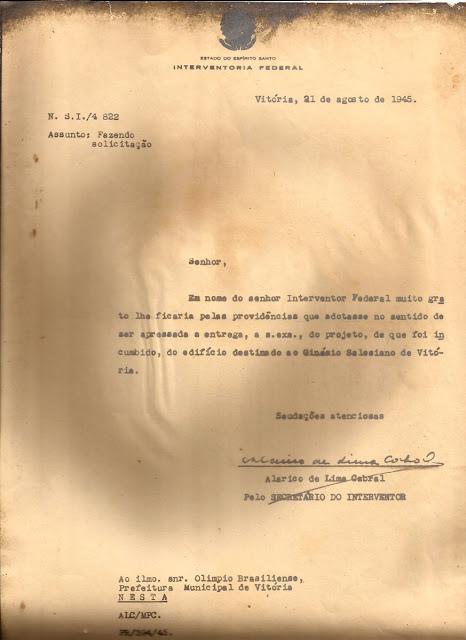 Projeto do Ginásio Salesiano de Vitória, ID 382.
