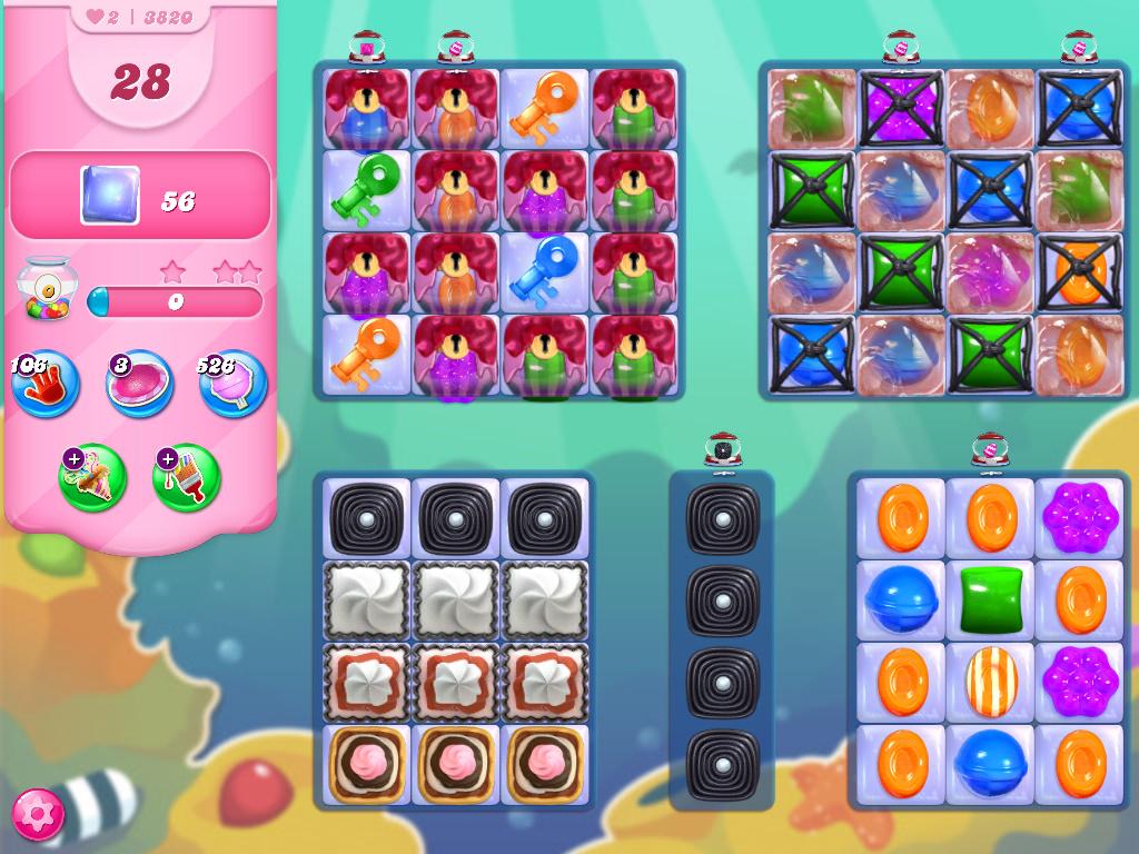Candy Crush Saga level 3820