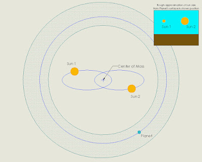 Common binary system and P-type orbit