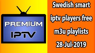 BEST Swedish smart iptv players free m3u playlists 28-Jul-2019