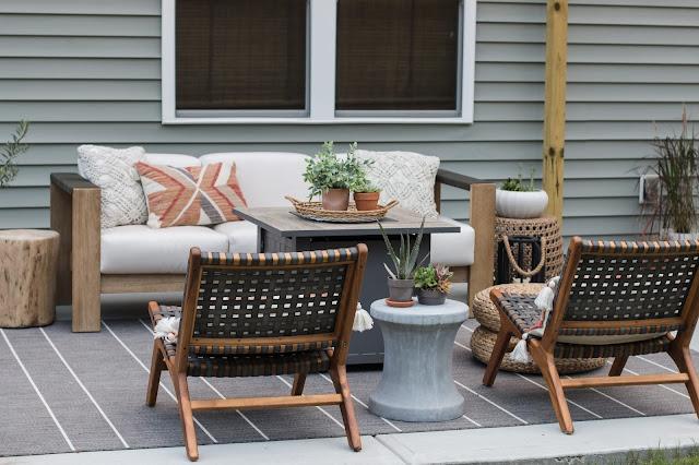 a budget-friendly modern patio makeover