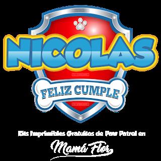 Logo de Paw Patrol: Nicolás
