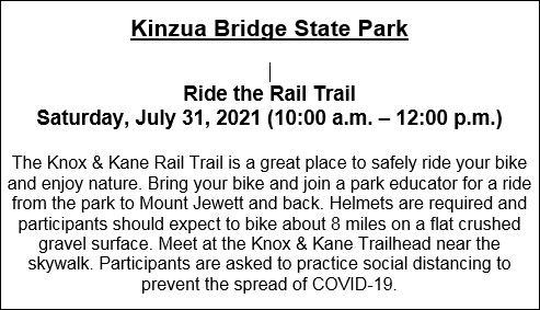 7-31 Kinzua Bridge State Park Event