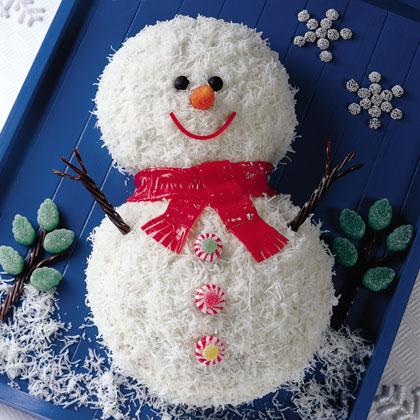 Smiling Snowman Cake Recipe