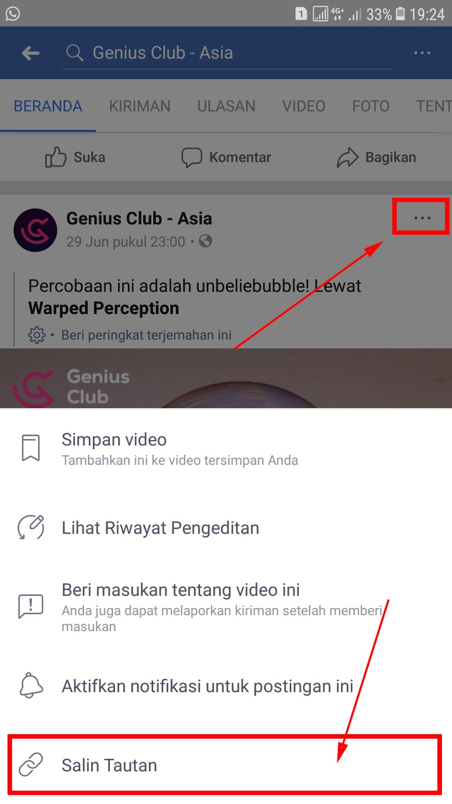 cara download video di facebook for android