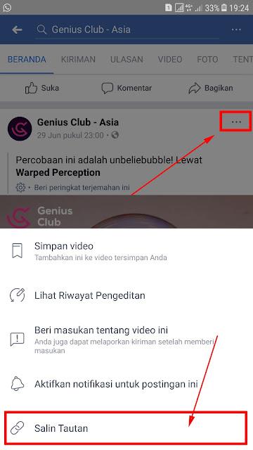 Cara Download Video Facebook Tanpa Aplikasi di Android 18